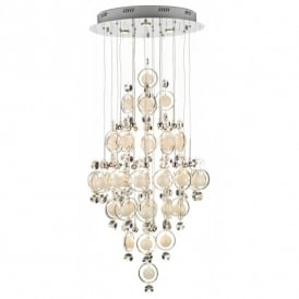Cloud 21 Light Ceiling Pendant in Polished Chrome Finish