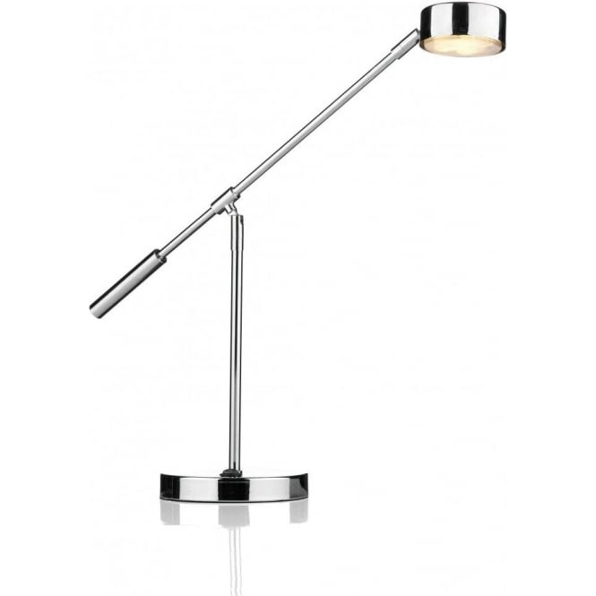 Dar Lighting Cruise Single Light LED Table Lamp in Polished Chrome
