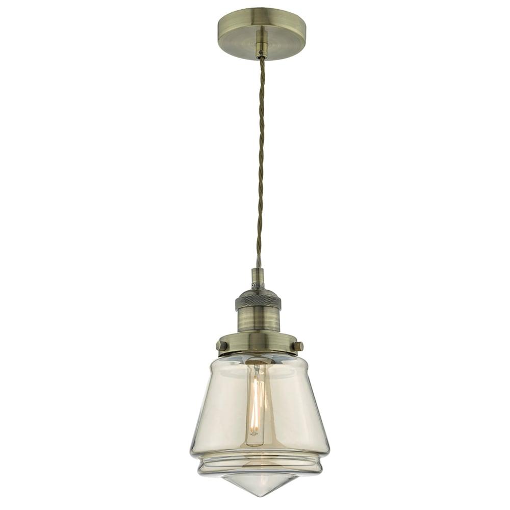 Dar lighting curtis single light ceiling pendant in antique brass curtis single light ceiling pendant in antique brass finish with champagne glass aloadofball Images