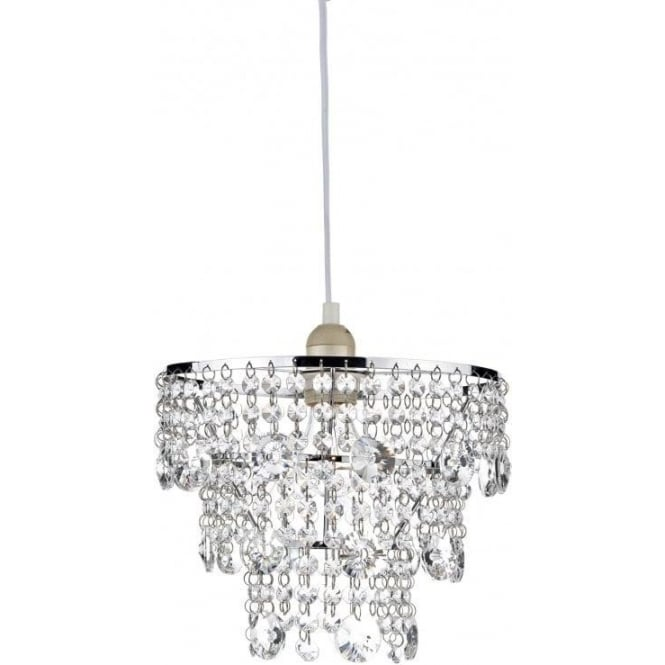 Dar lighting cybil easy fit ceiling light pendant shade with clear cybil easy fit ceiling light pendant shade with clear crystal decoration aloadofball Image collections