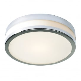 Cyro Single Light LED Bathroom Ceiling Fitting in Polished Chrome Finish