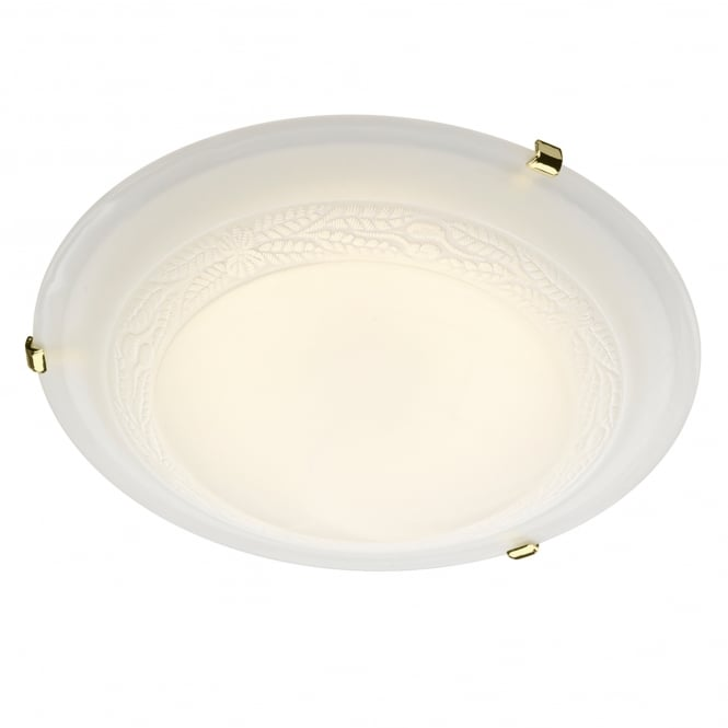 Dar Lighting Damask Single Light Ceiling Fitting with Alabaster Glass
