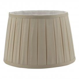 DEG1229 Degas 30cm Taupe Faux Silk Box Pleat Empire Drum Shade