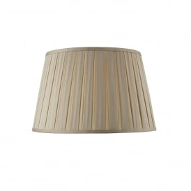Degas 45cm Taupe Faux Silk Box Pleat Empire Drum Shade
