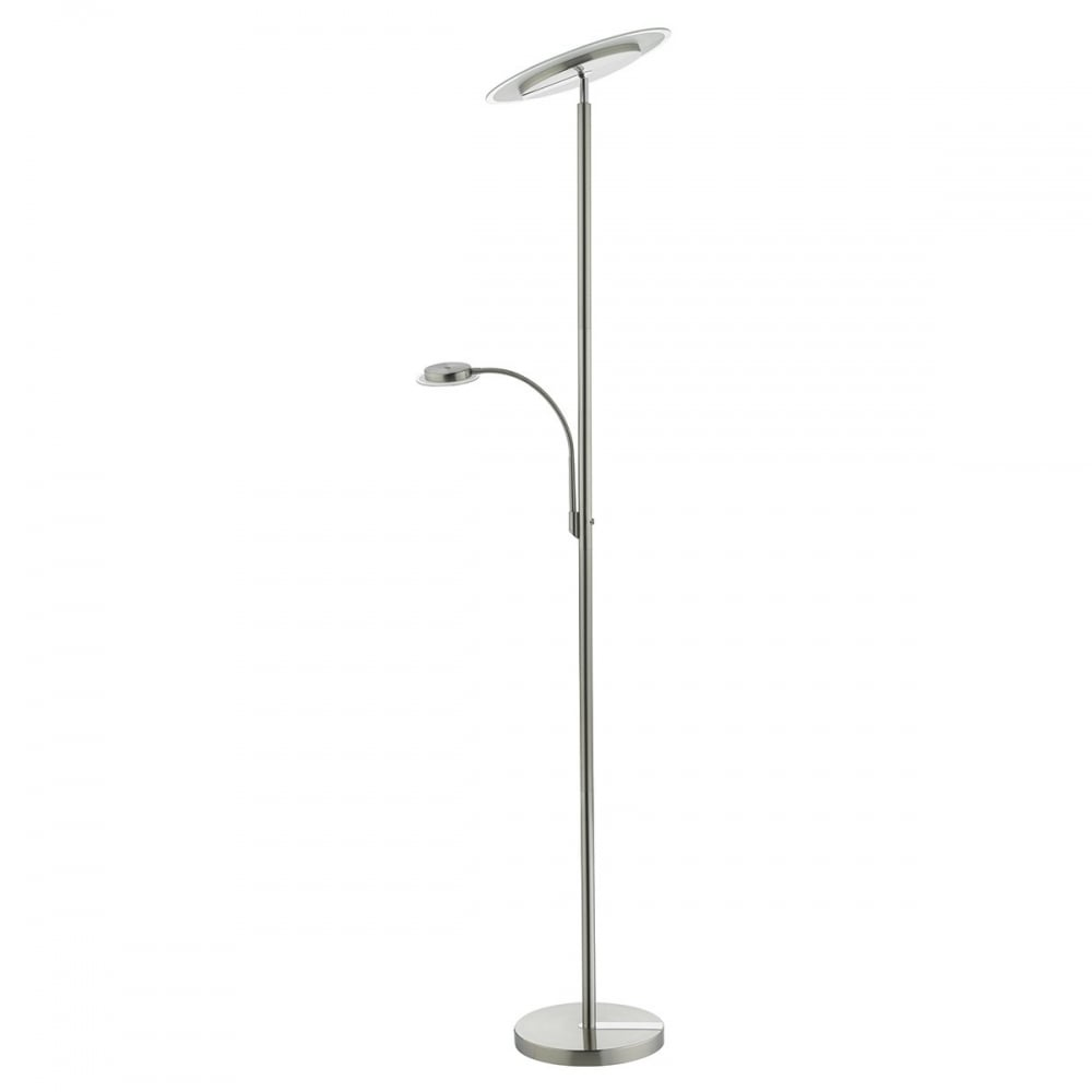 Dar lighting duisburg led mother child floor lamp in satin and duisburg led mother amp child floor lamp in satin and polished chrome finish mozeypictures Images