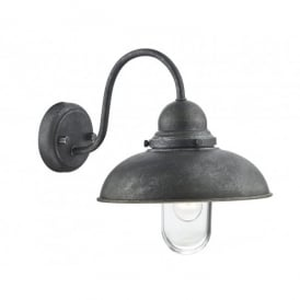 Dynamo Outdoor Single Light Wall Fitting in an Aged Iron Finish