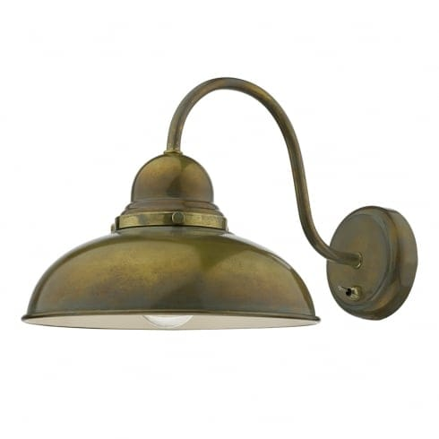 Fitting Wall Lights With No Earth : Dar Lighting Dynamo Single Light Switched Wall Fitting in Aged Brass Finish - Lighting Type from ...