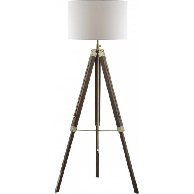 Dar lighting easel single dark wooden tripod floor lamp castlegate easel single dark wooden tripod floor lamp aloadofball Gallery