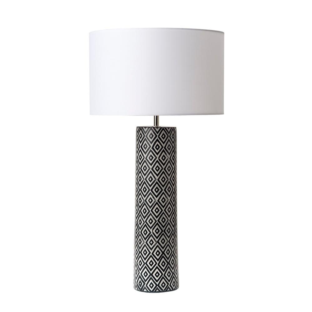 Dar lighting ego single light ceramic table lamp base only in black ego single light ceramic table lamp base only in black and white finish mozeypictures Images