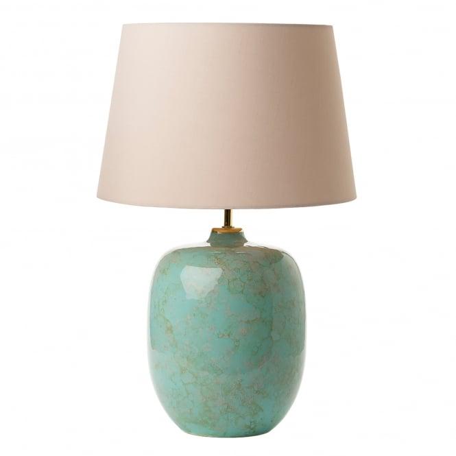 dar lighting elgar single light ceramic table lamp base only in green finish castlegate lights. Black Bedroom Furniture Sets. Home Design Ideas