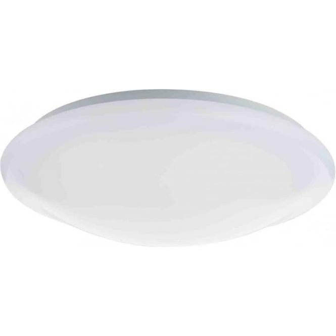Dar Lighting Elgin LED Bathroom Ceiling Fitting in White