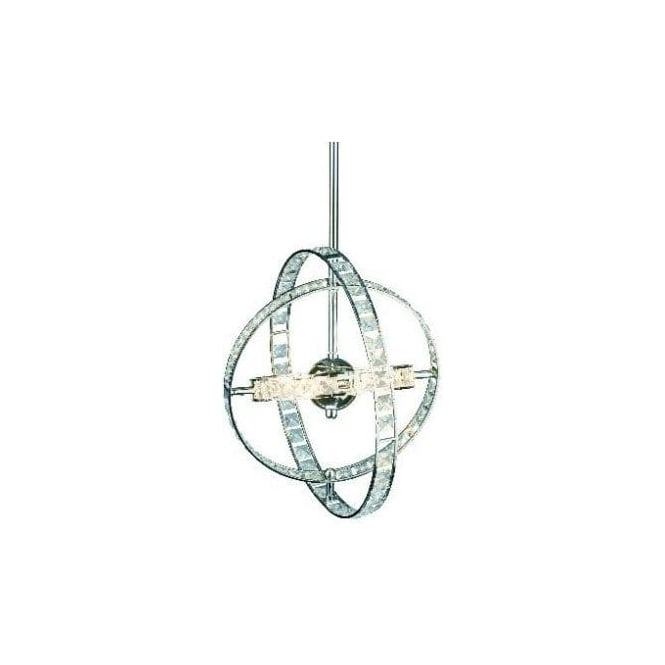 Dar Lighting Eternity 6 Light Ceiling Pendant in a Polished Chrome Finish