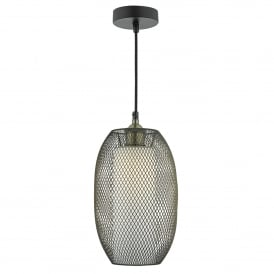 Etta Easy Fit Pendant Shade In Antique Brass Finish