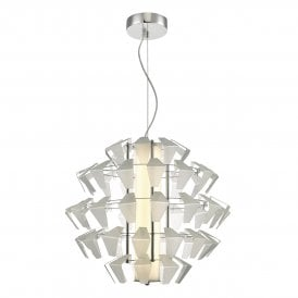 Falcon LED Ceiling Pendant in Aluminium Finish