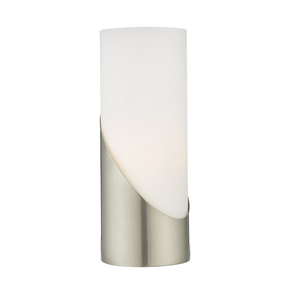 Wonderful Faris Single Light Touch Table Lamp In Satin Nickel Finish With Alabaster  Glass Shade