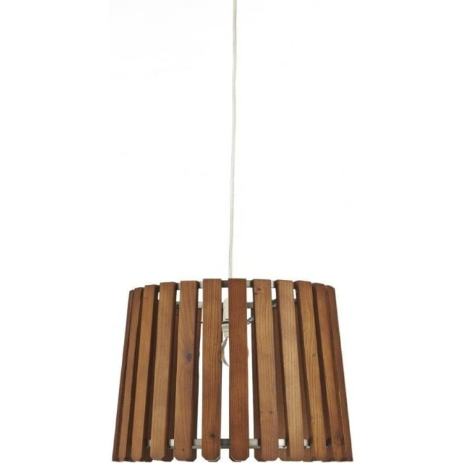 Dar Lighting Fence Easy Fit Ceiling Light Shade with a Wood and ...