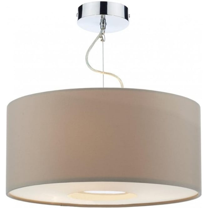 Ceiling Lamp Shade Materials: Dar Lighting Fitzgerald 3 Light Large Ceiling Pendant With