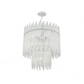 Gabriel 5 Light Ceiling Pendant In Polished Chrome And Clear Glass Finish