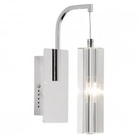 GAL0750A/LED Galileo Single Light LED Wall Light in Polished Chrome Finish