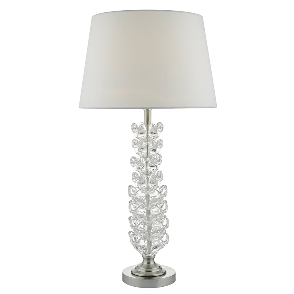 Dar lighting ghana single light table lamp base only in clear glass with satin chrome metalwork ghana single light table lamp base only in clear glass with satin chrome metalwork aloadofball Gallery