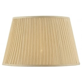 Gold Faux Silk Pleated Shade