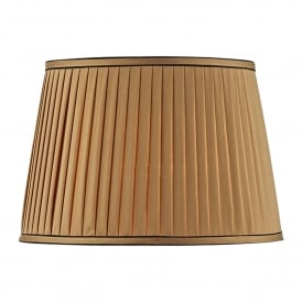Gold Faux Silk Shade For Various Dar Lamps