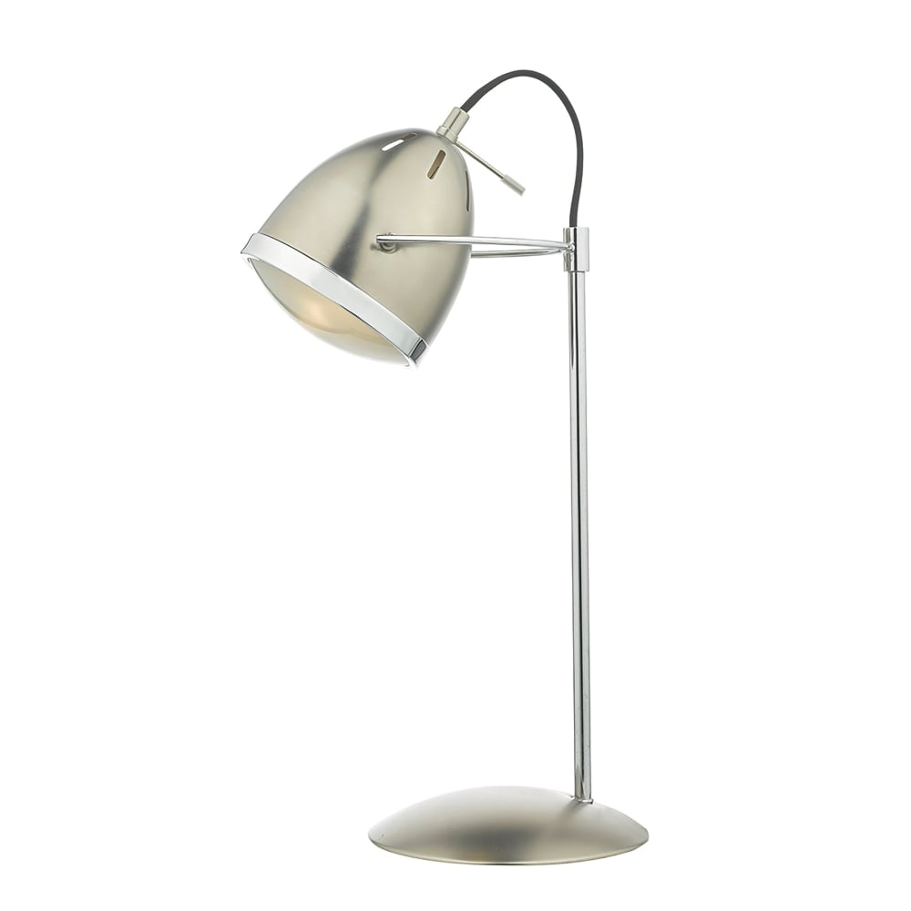 Dar lighting gomez single light task table lamp in antique chrome gomez single light task table lamp in antique chrome finish with polished chrome trim mozeypictures Images