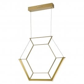 Hexagon Single LED Ceiling Pendant