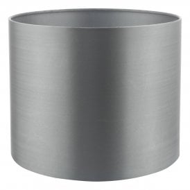 Hilda 12cm Grey Faux Silk Drum Shade