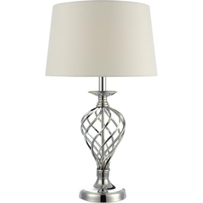 Dar Lighting Iffley Single Light Large Touch Table Lamp In