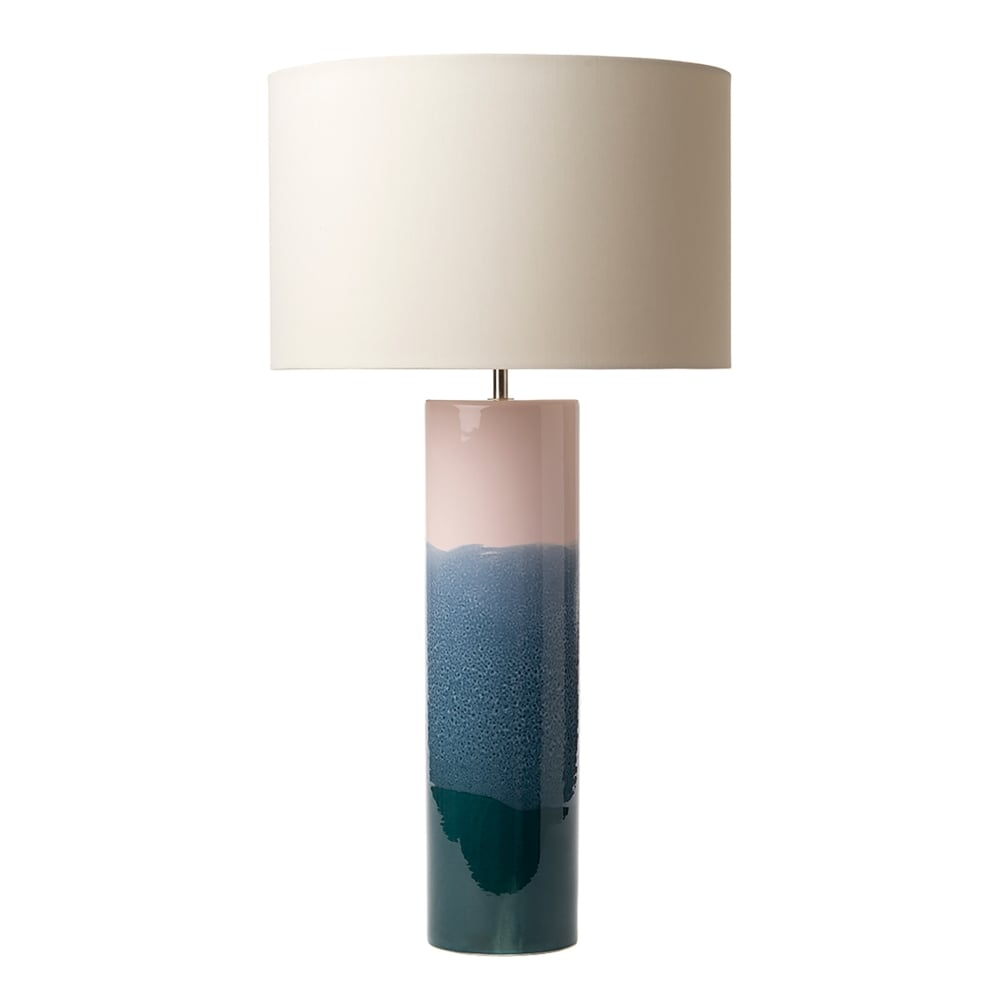 Dar Lighting Ignatio Single Light Ceramic Table Lamp Base Only In