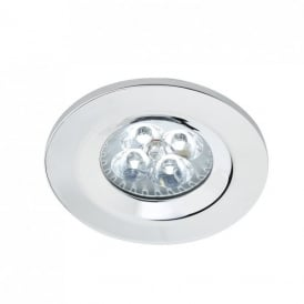Ipsum Single Light LED Recessed Down Light In Polished Chrome Finish
