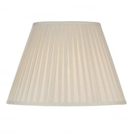 Ivory Cotton Pleated Shade