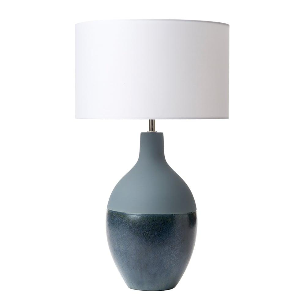 vase lighting. Jette Single Light Ceramic Lamp Base Only In Blue Finish Vase Lighting