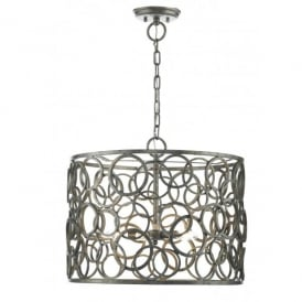 Jocasta 5 Light Ceiling Pendant with an Aged, Artisan Finish