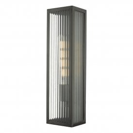 Keegan Single Light Outdoor Wall Light in Bronze Finish