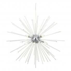 KEY0808 Keyla 8 Light Ceiling Pendant in Polished Chrome And Crystal Finish