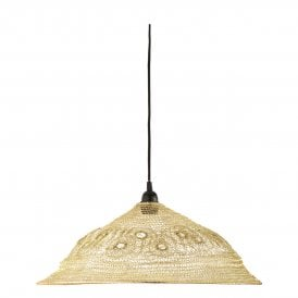KIK6535 Kiki Easy Fit Ceiling Pendant Shade in Soft Gold Finish