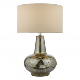 Kishan Single Light Table Lamp Antique Mirror Effect Glass Base Only