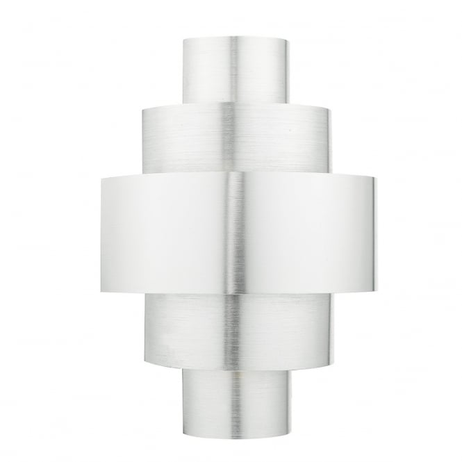 Dar Lighting Lewis Single Light Switched Wall Fitting In Brushed Aluminium Finish