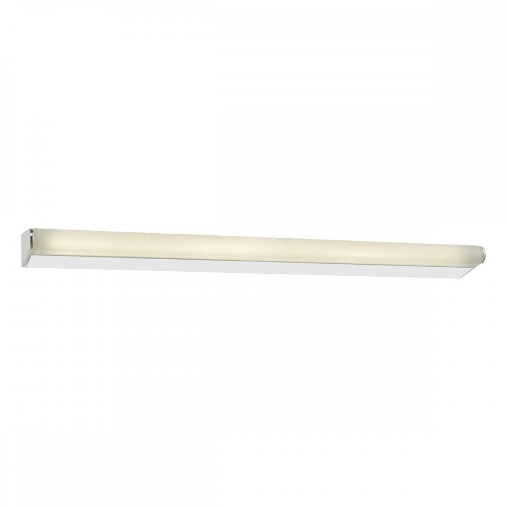 Dar Lighting Lika Large Led Bathroom Polished Chrome Single Light Wall Fixture
