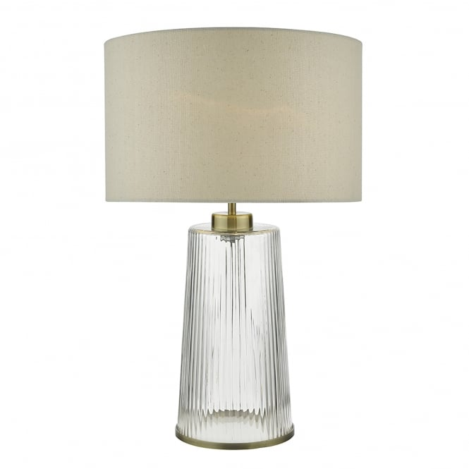 Ribbed Brass Floor Lamp: Dar Lighting Lira Single Light Table Lamp With Ribbed