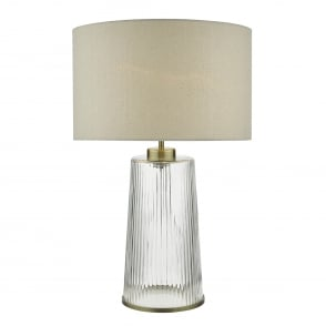 David hunt lighting azores single light small table lamp base only lira single light table lamp with ribbed glass base and natural linen shade aloadofball Images