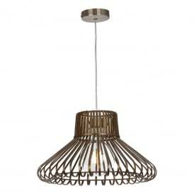 LUG6575 Lugo Easy Fit Ceiling Pendant Shade in Antique Brass Finish