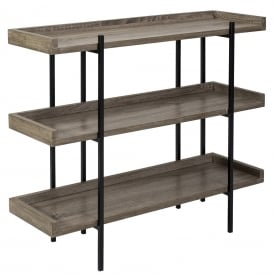 Lundberg Three Shelf Unit In Oak Style Veneer Finish