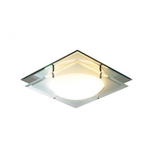 Dar Lighting Mantra Single Light Flush Bathroom Ceiling ...