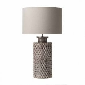MEL4261 Melba Single Light Ceramic Table Lamp Base In Mauve Finish
