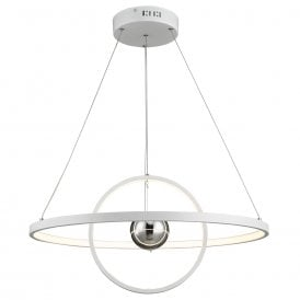 MER882 Mercury LED White Ceiling Pendant