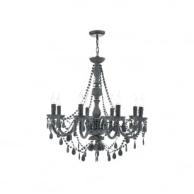 Meredith 8 Light Ceiling Chandelier In Grey Finish