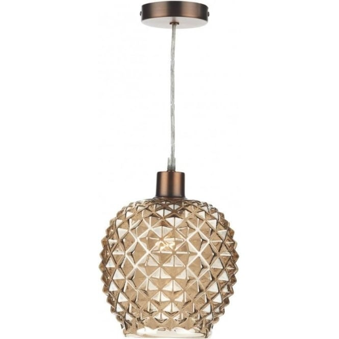 Dar lighting mosaic easy fit ceiling light pendant shade with mosaic easy fit ceiling light pendant shade with champagne coloured glass aloadofball Gallery